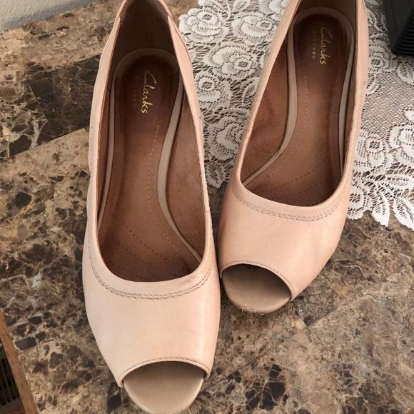 c5188ed67d7 clark s Shoes - Clark s artisan peep toe wedges